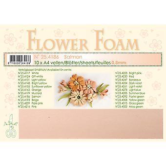 Leane Creatief Flower Foam Sheets A4 Salmon