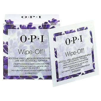 OPI Acetone Free Nail Polish Remover Wipes - Wipe Off (10 Wipes)