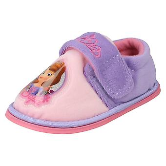 Girls Disney Character Slippers Sofia the First Flowers