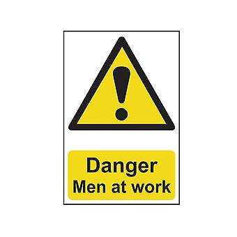 Scan Danger Men At Work - PVC 200 x 300mm SCA1200