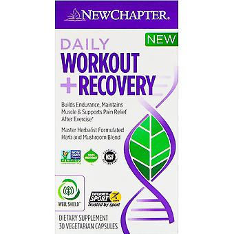New Chapter, Daily Workout + Recovery, 30 Vegetarian Capsules
