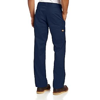 Dickies Men's Regular Straight Fit Double Knee Stretch Twill Work Pant, Dark ...