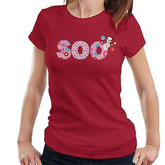 Sooty Soo Floral Pattern Text Women's T-Shirt