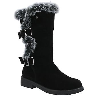 Hush Puppies Womens Megan Suede Leather Mid Boots