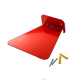 Roestvrij staal onzichtbare drijvende opslag boekenplank rood
