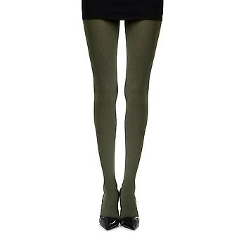 Zohara ZOF-HG Women's Opaque Heather Green Print Tights