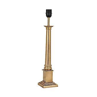 1 Lampe de table moyenne légère laiton - Base uniquement, E27