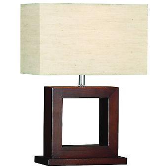 1 Lampe de table légère Bois avec ombre, E27