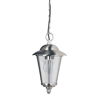 1 Light Outdoor Ceiling Pendant Light Polished Stainless Steel, Clear Polycarbonate, E27