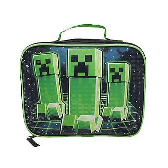 Minecraft Creeper Lunch Box Boys/Girls School Black Food Container
