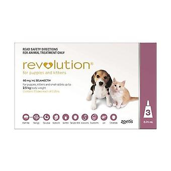 Revolution-rosa Pup/Kit 3-Pack