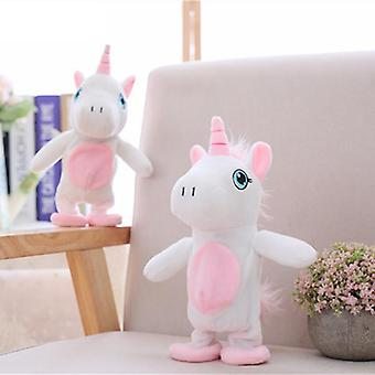25cm Magic Unicorn-walking & Talking Stuffed-animal-horse-toy Sound-record