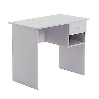 Wooden Office Computer Workstation Desk - White with Lilac Tint
