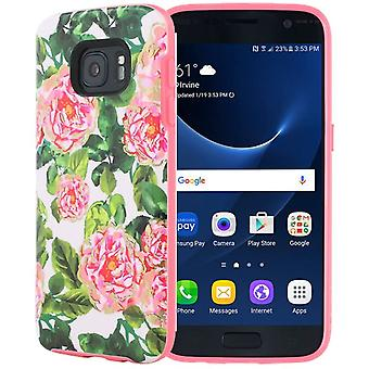 Incipio Roses Design Case for Samsung Galaxy S7   S7 - SA-754-FLR-V Cute Floral Pattern Print Flexible Slim & Fit Bumper Full Body Protective Unique design Phone Case /Rose Gold
