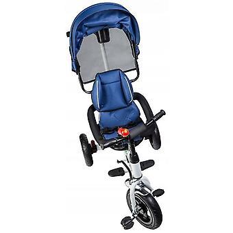 Bici push triciclone - con visiera pieghevole - blu