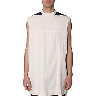 Rick Owens Drkshdw Du19s4190cr2109 Men's White Cotton T-shirt