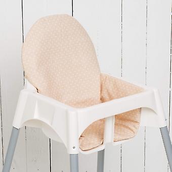 Puckdaddy Seat Cushion Oskar for IKEA High Chair Antilop Dots Beige