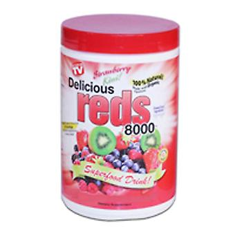 Greens World Inc Delicious Reds 8000, Fruit Punch 10.6 oz