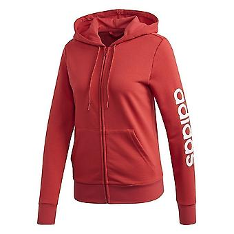 Adidas Essentials Linear FZ Hoodie FM6483 universal all year women sweatshirts