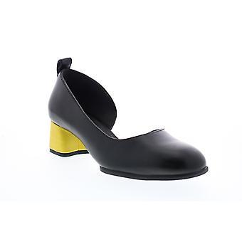Camper TWS Naisten Musta Nahka Slip Korkokengät Kengät