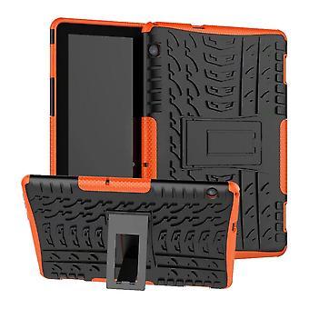 Para Huawei MediaPad T5 híbrido de 10,1 polegadas capa protetora exterior caso laranja saco capa