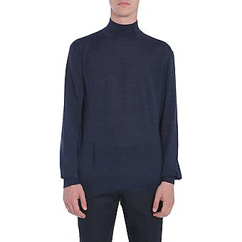 Lanvin Rmpo0012a1720 Men's Blue Wool Sweater