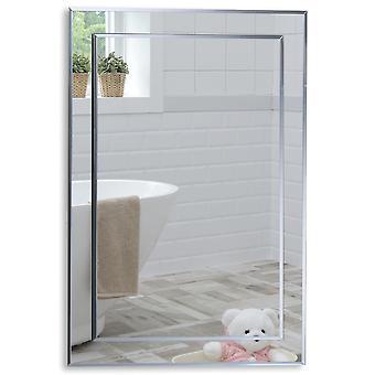 Rectangular Wall Mirror 70 x 50cm & Demister