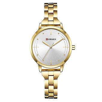 CURREN 9019 Petit cadran Occasionnel Ladies Wrist Watch Stainless Steel Strap Quartz