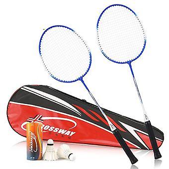 Professionelle Kohlefaser Badminton Schläger Set mit Shuttlecocks und Tragen