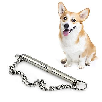Long Brass Pet Whistle Can Adjust Sound Waves Dogs Train Whistle