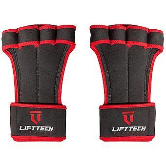 Lift Tech Fitness Pro Palm Gewicht Hebepads - schwarz/rot