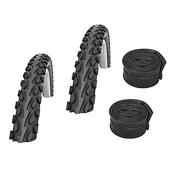 "Velo.Set 2 x Impac Tourpac Bicycle Tires = 50-559 (26×2.00"") + Hoses"