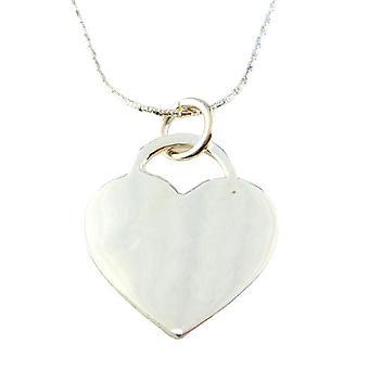 Friman hopea kaulakoru sydän 925 45cm