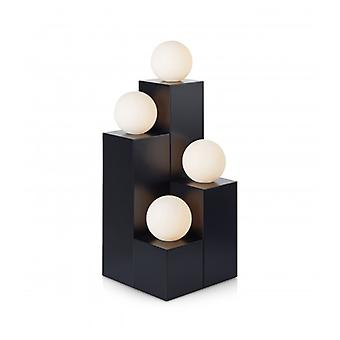 Impero Tafellamp Zwart 4 Bollen