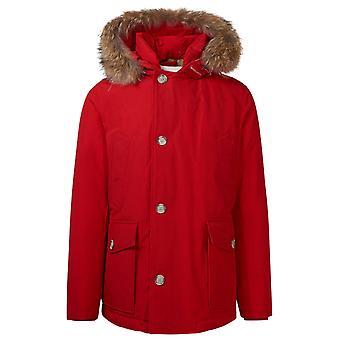 Woolrich Woou0272mrut0001msc Men's Red Cotton Down Jacket