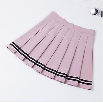Høj talje plisseret nederdele Kvinder A-line Sailor stor størrelse Preppy Skole Uniform