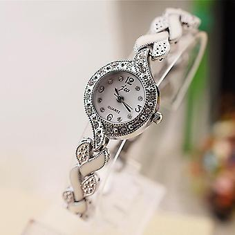 New Brand Bracelet Watches Women Luxury Crystal Dress Wristwatches Clock