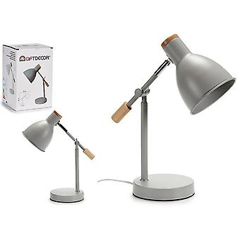 Flexo/Skrivbordslampa Grå trämetall (15 x 36 x 32 cm)