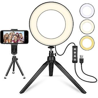 Led Ring Light Live Tripod Selfie Artifact Fill Light And Bracket Self-adjust The Light Brightness