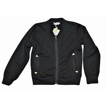 Sort zip sweater 122/128 cl