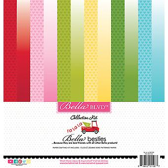 Bella BLVD Fa La La 12x12 Inch Bella Besties Paper Kit
