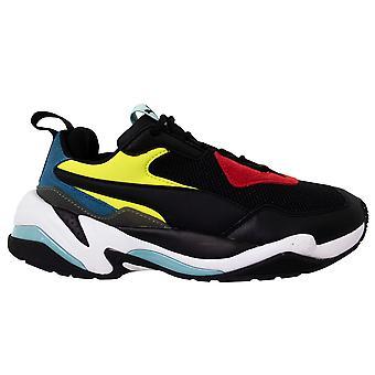 Puma Thunder Spectra Erkek Siyah Deri Tekstil Dantel Up Eğitmenler 367516 01