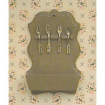 Nuket Talo Chrysnbon Spoon Rack Kit Miniatyyri keittiö lisävaruste