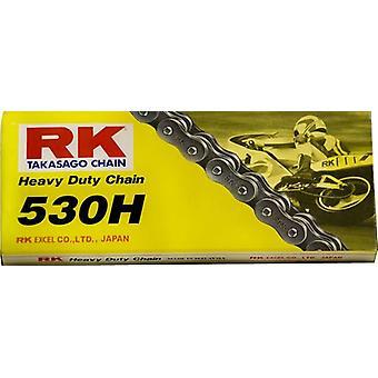 RK 530H 104 Link Heavy Duty Road Racing Street Motorcykel Kæde Sort