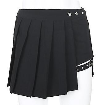 Sexy Gothic Women Mini High Waist Pleated Punk Summer Skirts