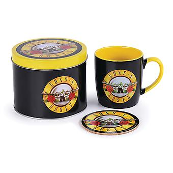 Guns N Roses Bullet Logo Mug y Coaster Set