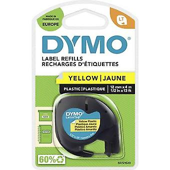 DYMO LT Labelling tape Tape colour: Hyper yellow Font colour: Black 12 mm 4 m
