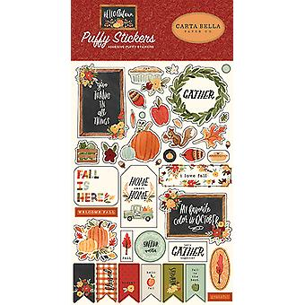 Carta Bella Hello Autumn Puffy Stickers