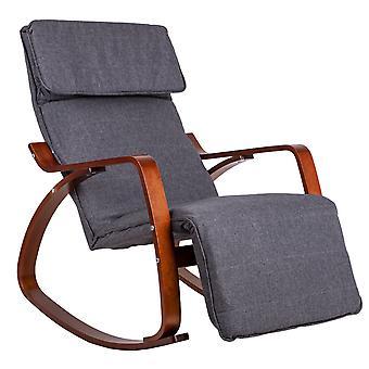 Sedia a dondolo con poggiapista regolabile - 70x70x97 cm
