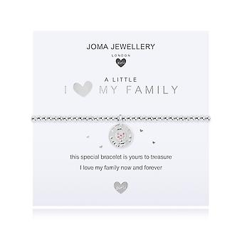 Joma Jewellery Childrens A Little I <3 My Family Silver 15.5cm Stretch Bracelet C501